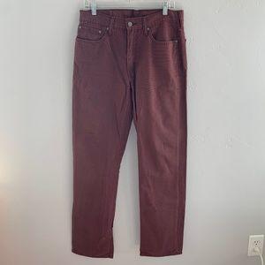Levi's 514 Maroon Jeans 33